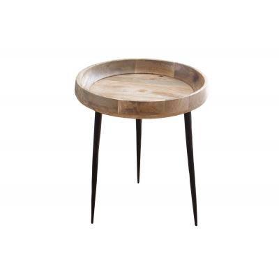 Tömörfa dohányzóasztal, 47 cm - MESANGE